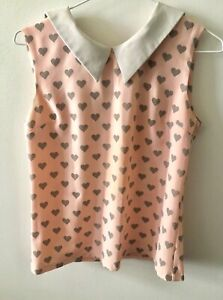 Peach color with hearts T-shirt size 8 Waterloo Inner Sydney Preview