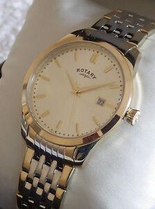 mens rotary swiss watch rotary men s gb03851 03 two tone classic bracelet swiss watch rrp £129