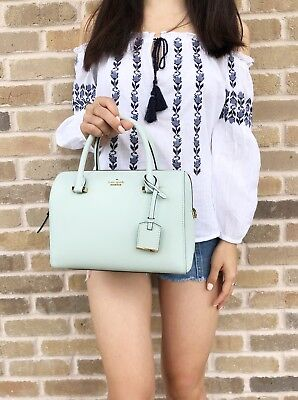 Kate Spade Cameron Street Large Lane Satchel Crossbody Misty Mint