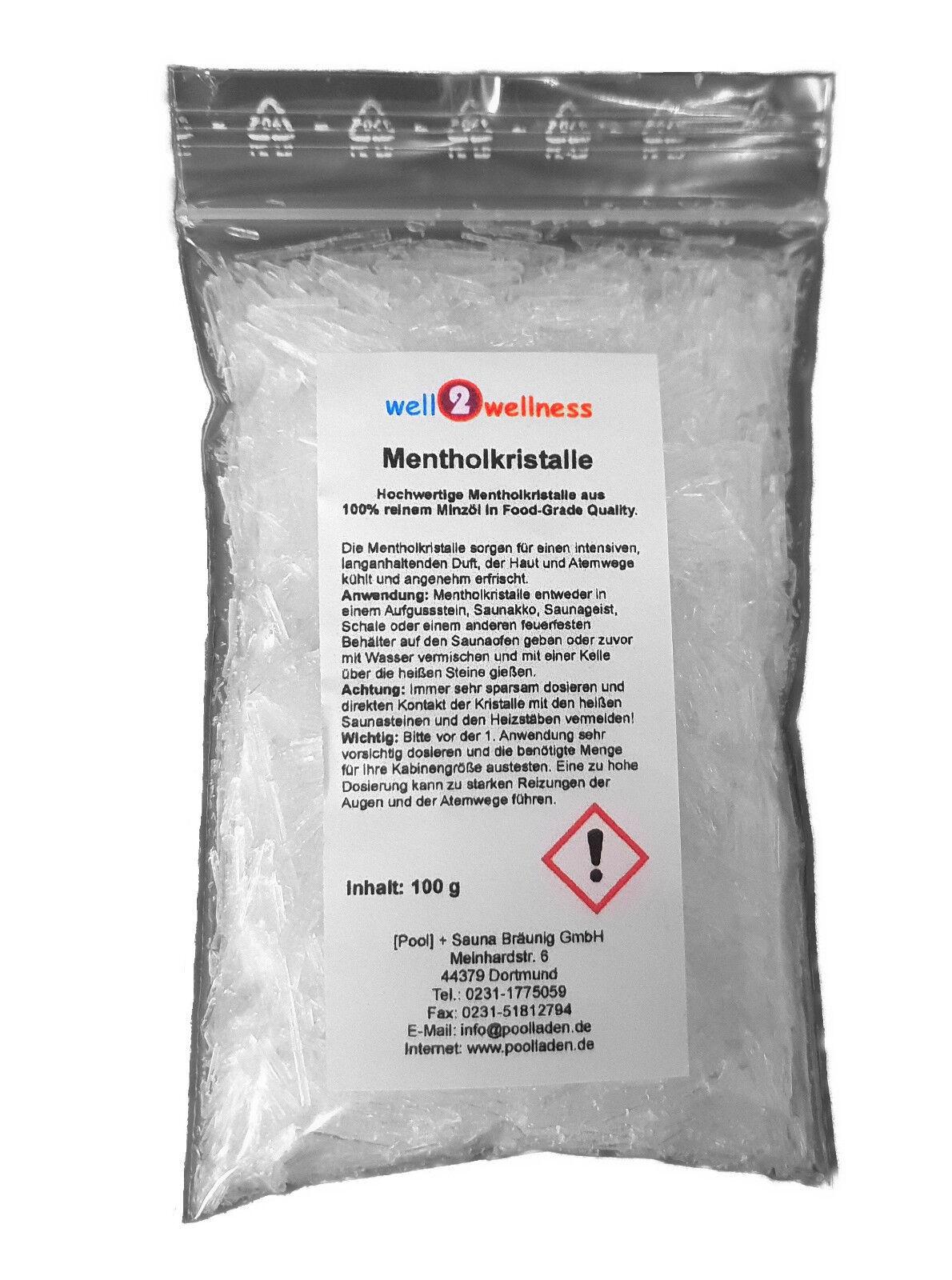 Mentholkristalle Sauna Kristalle als Saunaaufguss + Saunaduft in 22 Gebinden