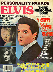 ELVIS-PRESLEY-Personality-Parade-3rd-Memorial-Issue-Fall-1980-Rare-B-W-Pix