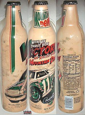NASCAR DARYL WALTRIP#11 RACE CAR MOUNTAIN DEW SPORT SODA POP ALUMINUM BOTTLE-CAN