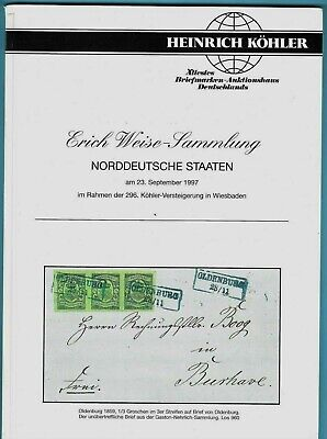 The Erich Weise Collection of North German States, H. Kohler, Sept. 23, 1997