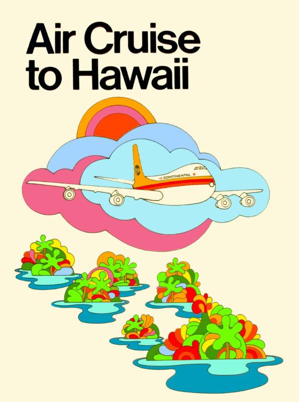 Hawaii Hawaiian Air Cruise United States America Travel Advertisement  Poster