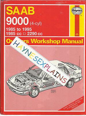Haynes New Sealed SAAB 9000 4 Cyl 1985cc 2290cc Owners Workshop Manual 1985 - 95