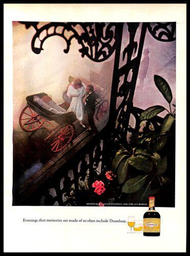 1970 Drambuie Scotch Whisky Liqueur Vintage PRINT AD Carriage Horse Evening Fog