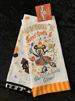 New 2020 Disney Parks Halloween Minnie Mouse Sweet Spells Kitchen Towels