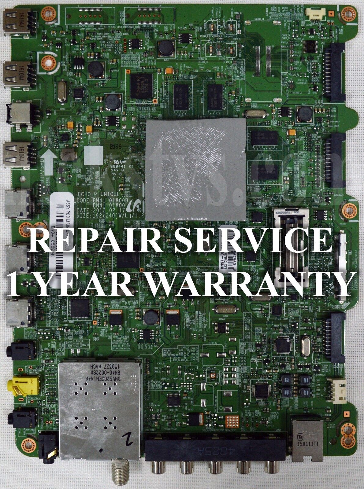 Mail-in Repair Service For Samsung UN60ES8000 Main Board 1 YEAR WARRANTY