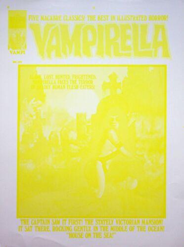 VAMPIRELLA #41 Warren Publishing Master ENRICH TORRES Cover Proof APR 1975 #WA