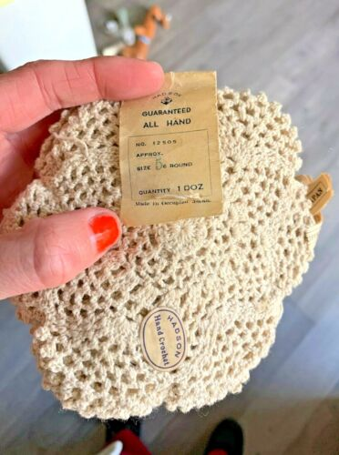 """12 Vintage 5"""" doilies all new handmade: Hadson made in Japan"""