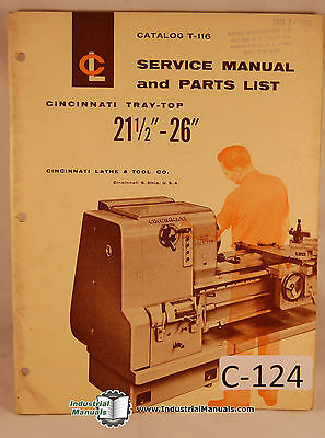 Cincinnati Le 21 26 Lathe Service Electric Wiring Operations And Parts Manual