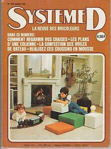 magazine syst me d n 350 mars 1975 bricolage ebay. Black Bedroom Furniture Sets. Home Design Ideas