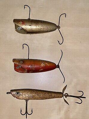 """Vintage Mercury Minnow Fishing Lure 4/"""" 3 Hook Alligator Back Spotted"""