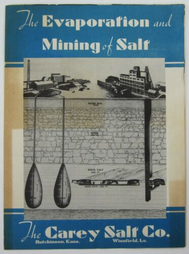Carey Salt Mining Hutchinson KS History Brochure Evaporating Plant Factory 1930s