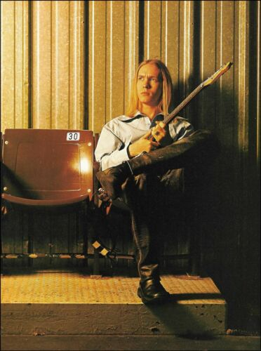 Kenny Wayne Shepherd with his Fender Stratocaster guitar 8 x 11 pin-up photo