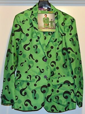 The Riddler Jacket (NEW Batman The RIDDLER Suit Adult Costume size MEDIUM pants jacket tie)