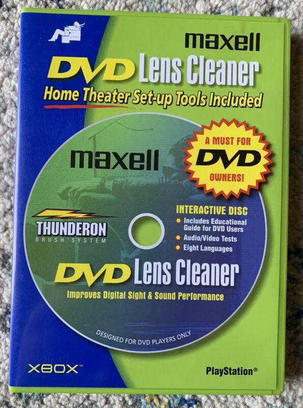 Maxell DVD Lens Cleaner Laser  Thunderon Brush System XBOX PLAYSTATION