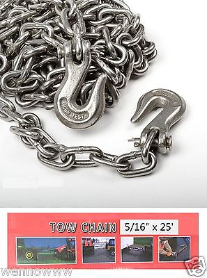 516 X 25ft Tow Chain Automotive Truck Towing Log Chain