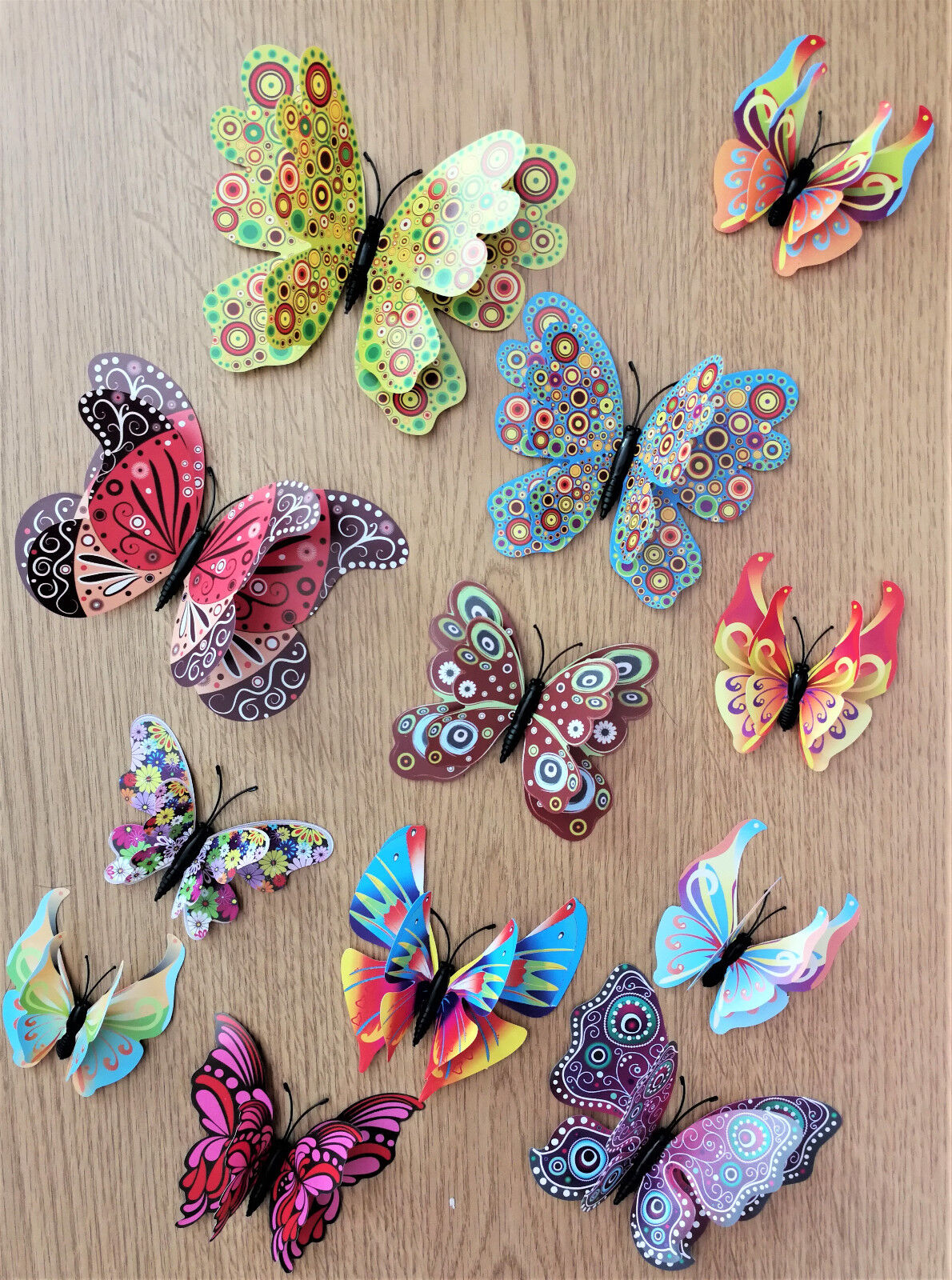 Home Decoration - 3D Butterfly Home Decor Wall Decoration Stickers Magnet 12 Pcs - 54 designs
