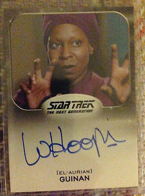 Star Trek Aliens Autograph Card Whoopi Goldberg as Guinan