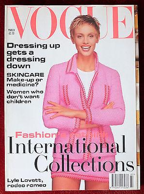 Vogue British ~ March 1994 ~ Beri Smither Kate Moss Helena Christensen