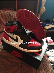 "buy popular cecb7 e512c Nike Air Jordan Retro 1 "" Bred Toe"" Size 13"