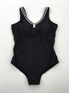Ann Harvey Black White Trim Swimming Costume Swimsuit Size 20 #4BX
