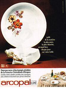 Publicite 1968 arcopal art de la table de luxe assiettes for Art de la table de luxe
