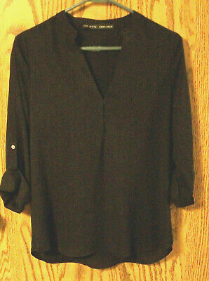Lovely ZARA BASIC Black Blouse - Size S - Excellent Condition!