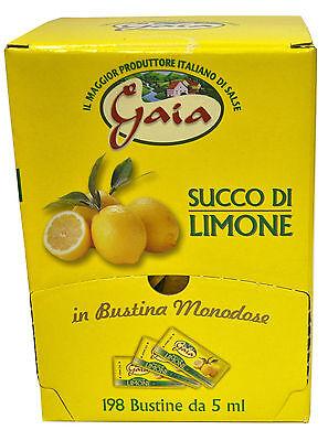 Succo di Limone per condimento 198 bustine monodose