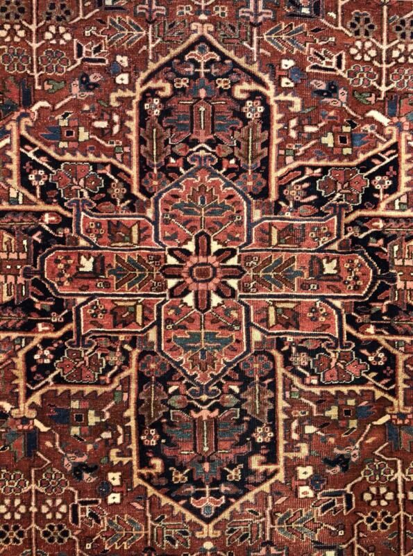 Terrific Tribal - 1920s Antique Oriental Rug - Nomadic Carpet - 9.2 X 11.5 Ft