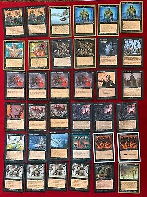 MAGIC LOT OF 36 BLACK CARDS NEW UNPLAYED NM/MT MTG INCLUDE 8 GOLD BORDER  CARDS