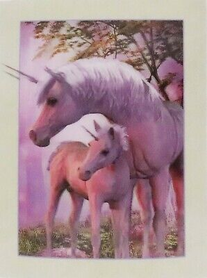 UNICORN Mother and Calf 3D Lenticular Poster - 12x16 Print