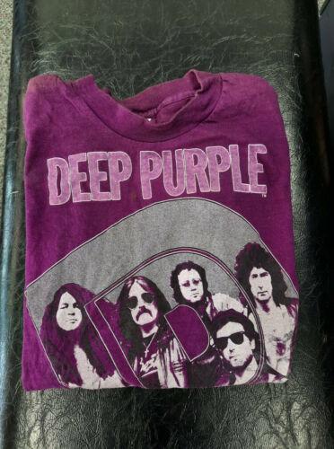 DEEP PURPLE Perfect Strangers Tour 1985 Vintage Original Shirt Size S Long Slv.