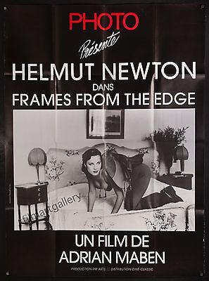 """HELMUT NEWTON FRAMES FROM THE EDGE 1989 47""""x63"""" fashion photography documentary"""