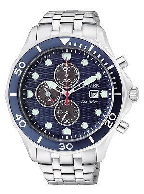 Citizen Eco-Drive Men's Chronograph Blue Multi Dial 47mm Watch CA0540-56L Citizen Eco Drive Chronograph Watch