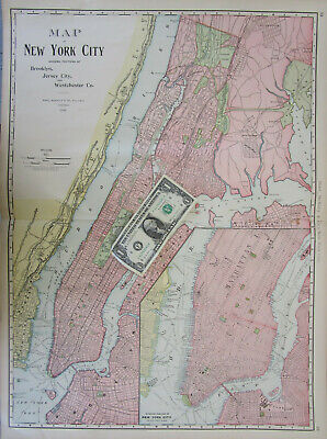 """18/"""" x 24/"""" 1854 Map Of Erie County New York /& City Of Buffalo"""