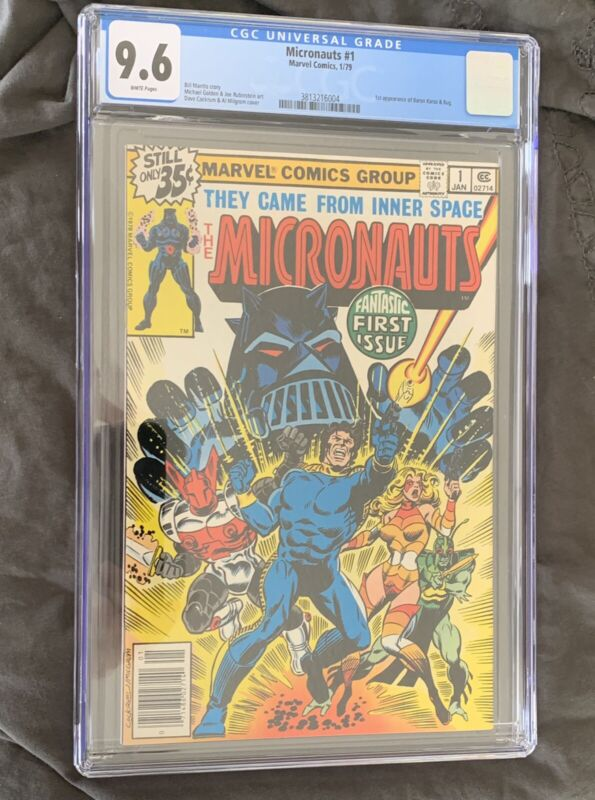 Micronauts #1 CGC 9.6 MCU coming! 1st Galactic Warrior White pages