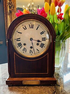 Large Mahogany cased Westminster chiming Bracket Clock (F.Sage & Co 1923)