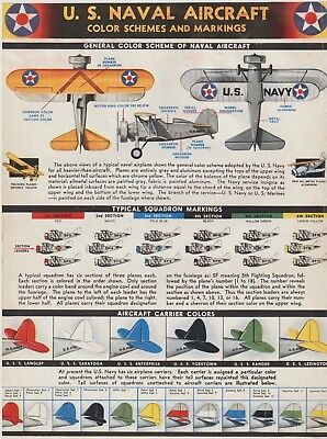 Aviation Photo - US Navy Aircraft Color Schemes & Markings from Magazine (1937)](Navy Color Scheme)