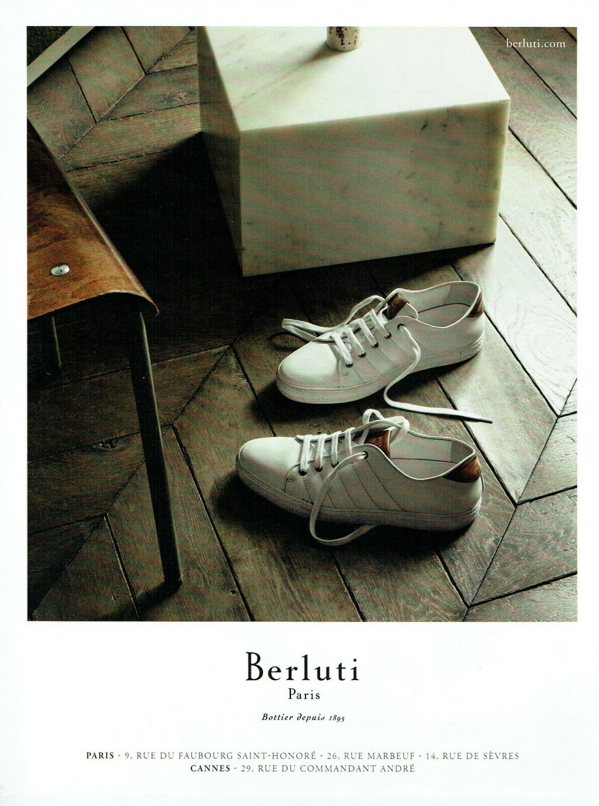 Publicité advertising 120 2016  berluti  bottier paris  baskets chaussures