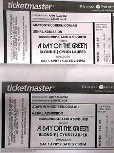 2 Tickets GA for the Cyndi Lauper | Blondie Concert Upper Hunter Preview