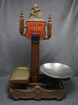 LION QUICK ACTION Balance SCALE 4 LB. - Herbert & Sons Ltd. LONDON - Cast Iron