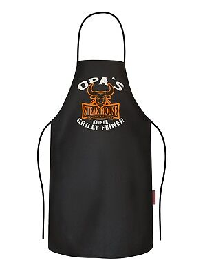 Delantal de Parrilla - Opa's Steakhouse - Cocina Regalo Cumpleaños Abuelito