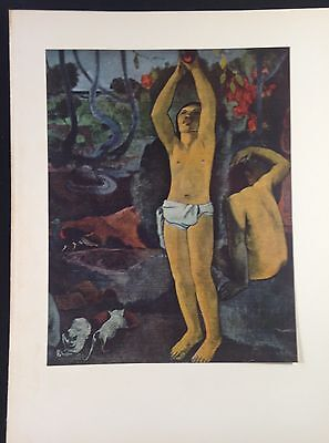 "1954 Vintage Full Color Art Plate ""WHERE DO WE COME FROM"" DETAIL 2 GAUGUIN Litho"
