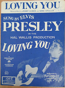 ELVIS-PRESLEY-rare-1957-vintage-sheet-music-LOVING-YOU