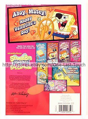 SPONGEBOB SQUAREPANTS* 32 Valentines Day Cards NICKELODEON 8 Designs NEW 2/10 - Spongebob Valentines