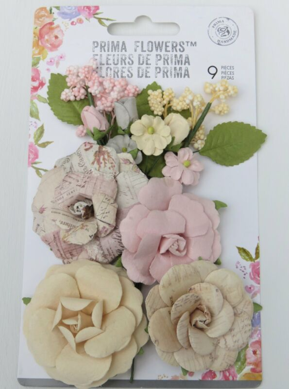 Prima Flowers Lavender Collection Set of 9, Scrapbooking, So Pretty!
