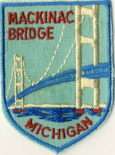 "Mackinac Bridge MI Michigan 2.75"" Souvenir Backpack Patch"
