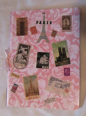 Nice Design Paper (NICE HANDMADE PAPER JOURNAL ~ PARIS / ITALY TRAVEL COLLAGE DESIGN ~ 7.5